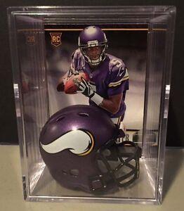 MINNESOTA VIKINGS NFL Players Mini Helmet Shadowbox w/ card