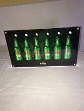 New Heineken acrylic beer liquor sign chrome gold mirror foil reflect bar