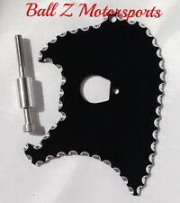99-05-06-07 Hayabusa Black/Silver Ball Cut Front Sprocket Cover Dress Up Plate!!