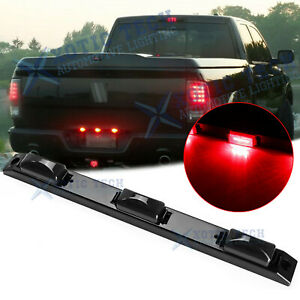 For Dodge Ram 1500 2500 3500 Red Smoked LED Rear Tailgate Trunk Tail Light Bar