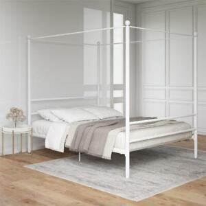 Mainstays Metal Canopy Bed , Full, White Metal