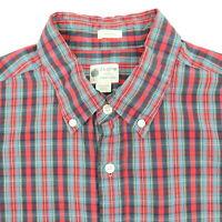J CREW Tailored Fit Plaid Shirt Mens LARGE Lightweight Thin Soft