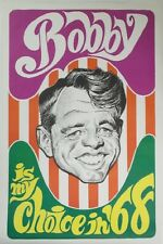 Bobby Kennedy Is My Choice in '68 ORIGINAL Campaign Poster