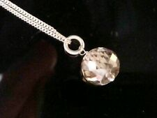4.80CT FACETED NATURAL CHAMPAGNE DIAMOND NECKLACE ON SILVER CERTIFICATED
