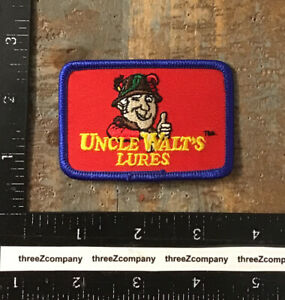 Vintage UNCLE WALT'S LURES Fishing Bait Tackle Patch