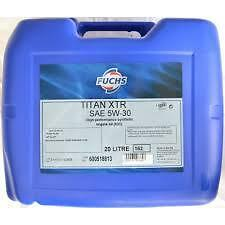 Fuchs TITAN XTR 5w-30 20L Quality Synthetic Engine Oil Ford Land Rover Renault