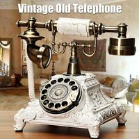 3 Types Vintage Antique Retro Phone Old Fashion Rotary Telephone Home Handset