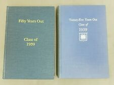 Lot of 2 CLASS of 1939 YALE University 25 Years Out & 50 Years Out Reunion Books