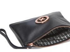 MIMCO Black Medium Pouch Leather Supernatural ROSE GOLD Wallet Clutch Bag BNWT