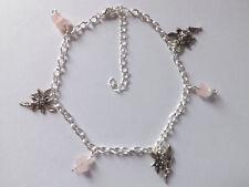Ankle Bracelet Hippy Boho Festival Rose Quartz Fairy Charms Anklet