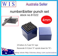 36pc 4mm Steel Punch Alphabet Letter Number Stamp Tool Metal Leather Craf-81322