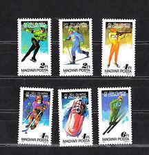 Hongrie   serie 6  jeux olympiques d' hiver  1987   num: 3135/40  **