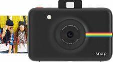 Black Polaroid Snap Instant Digital Camera with ZINK Zero Ink Technology