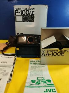 JVC P-100AE RADIO & TELEVISION WITH MANUAL, CASE, ACCESSORIES.