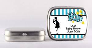 Ready to Pop Teal Mint Tin Stickers - Personalized Mint Tin Labels