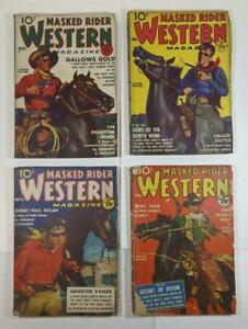 11 Masked Rider Western Pulps 30s to 50s - Pulp