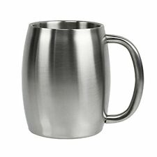 Stainless Steel 14 oz Double-Wall Insulated Coffee Mug or Beer Mug