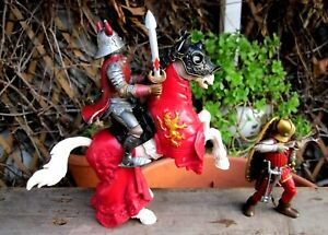 SCHLEICH - PAPO - Medieval Mounter Knight and Foot Crossbowman