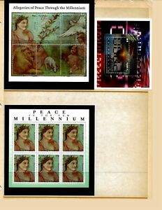 TUVALU Sc 813-15 NH issue of 1999 - 2 MINISHEETS+S/S - MILLENNIUM