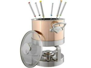 Mauviel 1830 Copper Fondue, Fondue Set - Anthracite-Coated