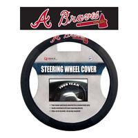 MLB Atlanta Braves Poly-Suede Steering Wheel Cover