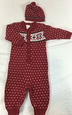 Baby Gap Newborn 3-6 Mos One Piece Nordic 100% Cotton Christmas Outfit Hat