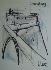 Georges LAPORTE (1926-2000) Technique mixte/papier Luxembourg P1799
