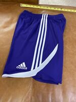 Adidas Athletic Climacool 3 Stripes Shorts Size L 13-14 Youth Purple White