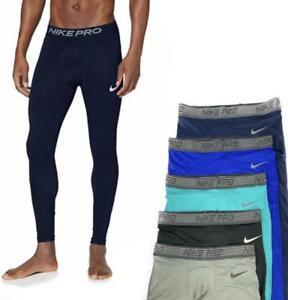 Nike Men's Pro Breathe Full Length Athletic Training Tights AT3198