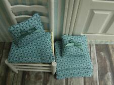 4 konische mini-Stuhl-KISSEN+2 Zierkissen,petrol,Puppenstube,Küche,Eßzimmer