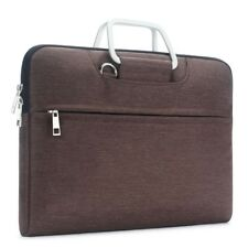 Bag Sleeve for Macbook Laptop & Ultrabook 15.6 inch with Shoulder Strap Brown