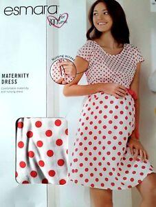 New Esmara Maternity Nursing Breastfeeding  Rerto Style Dress Size 16 UK