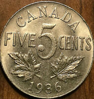 1936 CANADA 5 CENTS - Uncirculated