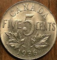 1936 CANADA 5 CENTS - Uncirculated