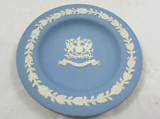 Vtg Wedgwood Blue Jasperware Collectors City of London Crest Small Plate