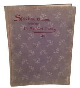 Specimens From The De Montfort Press. Type Specimen Book 1894 Color Printing