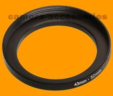 43mm to 52mm 43-52 Stepping Step Up Filter Ring Adapter 43-52mm 43mm-52mm (UK)