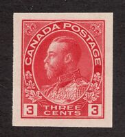 #138 - Canada - 1924 - 3 Cent Imperforate -  MH  -  VF  - superfleas - cv$25