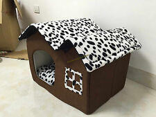 Indoor Dog House Bed Cushion Pad Soft Warm Puppy Cat Home Washable Sleeping Nest