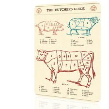 METAL SIGN The Butchers Guide Retro Decor Vintage Wall Garage Home