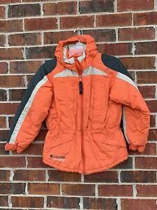 BOYS COLUMBIA WINTER JACKET SKI COAT SIZE 10/12 CHALLENGE SERIES ORANGE GRAY