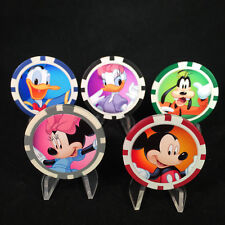 5 Pc Disney Poker Chips