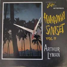 ARTHUR LYMAN*HAWAIIAN SUNSET ALBUM CLOCK!**MAKES A GREAT GIFT!*FREE SHIPPING!!-