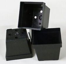 Nr.203-(V8) Anzuchttöpfe Vierecktöpfe  7x7x6,4cm schwarz,  200 Stück