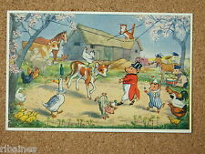 Vintage Postcard: The Farmyard Circus, Molly Brett, Medici