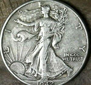 UNITED STATES 1942 WALKING LIBERTY HALF DOLLAR