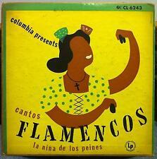 """LA NINA DE LOS PEINES cantos flamencos 10"""" VG CL 6243 Mono CBS Alex Steinweiss"""