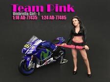 AMERICAN DIORAMA TEAM PINK UMBRELLA GIRL I 1:18 FIGURE 77435 NEW!!