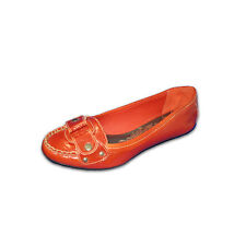 Matisse Orange Patent Leather Flat, Size 7