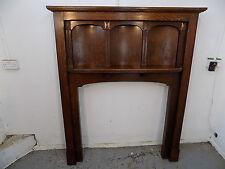 oak,fire surround,shelf,fireplace,fire,panels,surround,mantel,vintage,1930,tall